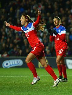 Goal, Alex Morgan. (Richard Heathcote/Getty Images Europe)
