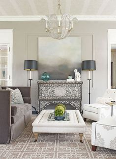 beach living room - beautiful console table