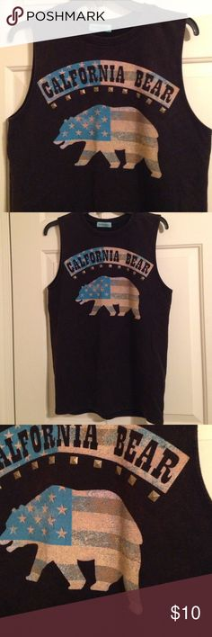 California Bear muscle tee. California bear muscle tee. Workshop Tops Muscle Tees