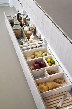 А как делает Европа? Вот например, украинцы хранят овощи в холодильнике, а европейцы, наоборот, считают, что овощи нельзя хранить в холодильнике, потому что, теряются полезные свойства. Они выделяют отдельные ящики на кухни под овощи.
