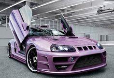 Purple custom sports car Pink car, pink convertible, pink jeep, pink SUV, pink motorcycle, pink vespa