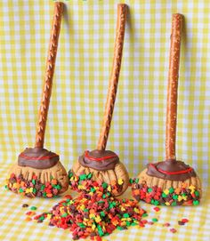 Welcome autumn with rake cookies, made with pretzel sticks, peanut butter cookies, and leaf sprinkles. Get the recipe. - CountryLiving.com