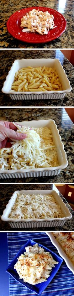 Creamy Chicken Alfredo Pasta Bake - Recipe For Ladies