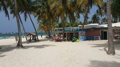 Beach side stores in Punta Cana, Dominican Republic.