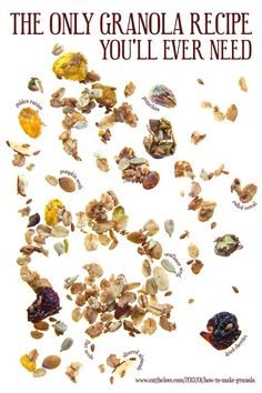 How to make granola (or super insanely easy customizable homemade granola) from Eat the Love
