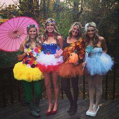 4 Jahreszeiten | Kostüm-Idee für Gruppen zu Karneval, Halloween & Fasching