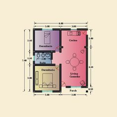 2 Bedroom House Plans, My House Plans, Small House Plans, House Floor Plans, Tiny House Layout, Small House Design, House Layouts, Affordable House Plans, Beautiful House Plans