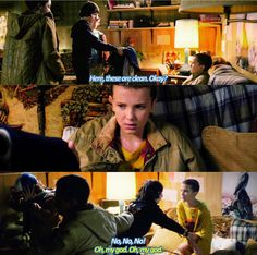 """""""These are clean, okay?"""" - Mike, Lucas, Dustin and Eleven #StrangerThings ((Hahaha this was hilarious!))"""