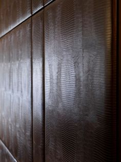 Leather wall panelling