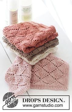 Dishcloth Knitting Patterns, Free Knitting, Baby Knitting, Crochet Patterns, Beginner Knitting, Finger Knitting, Scarf Patterns, Drops Design, Knitting Projects