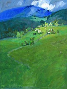 Miroslav Bucher olej 100x70Portret zeme-Karpaty3 Miro, Golf Courses