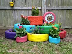 recycled-tires-garden-planter
