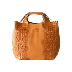 Women's SHARO Genuine Leather Bags Deleite Medium Tote Handbag ($209) ❤ liked on Polyvore featuring bags, handbags, tote bags, orange, orange leather tote, leather purses, man bag, orange tote and leather hand bags