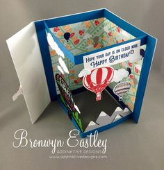 Lift Me Up, Envelope Fold Card, Occasions 2017, Stampin' Up!, #addinktivedesigns