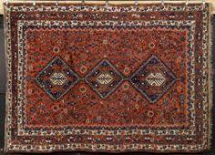 7035 - Semi-Antique Persian Shiraz Carpet Autumn Estate Auction   Official Kaminski Auctions