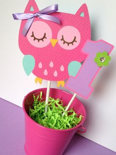 Owl Birthday Party Smash Cake Topper in by sweetheartpartyshop