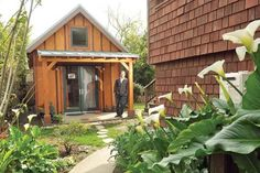 New Avenue in San Francisco Chronicle - small house, net zero energy built in Berkeley, CA.  Redwood siding, metal roof, Marvin windows.