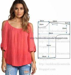 Шитье в помощь вязальщице: Cвободная легкая блуза