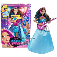 Mattel Year 2014 Barbie Rock'N Royals Series 12 Inch Doll Set - Guitarist ERIKA JUNO (CKB67) with Guitar and Necklace