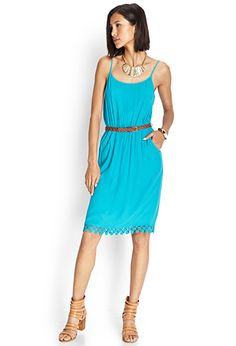 Well, since I need to buy boots, I might as well get some clothes that will look cute with them!  Woven Belted Cami Dress | FOREVER21 - 2000124609