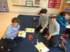 Fractions were fun in Kitah Gimmel as we used blocks to better understand adding fractions.