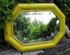 Mirror Distressed Yellow Green. $57.00 USD, via Etsy.