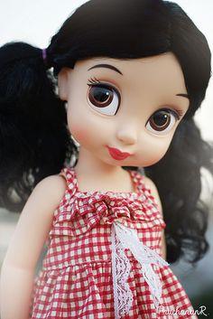 Disney Animators, Disney Animator Doll, Disney Dolls, Snow White Doll, Girl Dolls, Rag Dolls, Bitty Baby, N21, Doll Repaint