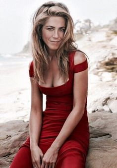 Aniston red bikini jennifer