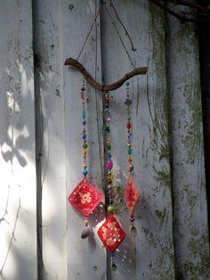 Boho wall hanging van craftsbymischa op Etsy