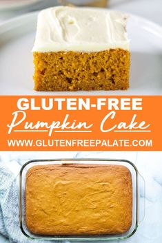 Gluten Free Pumpkin Sheet Cake- Gluten Free Pumpkin Sheet Cake One bowl! Perfectly tender gluten-free pumpkin cake with cream cheese frosting. This gluten free pumpkin cake recipe is simple to make and has the perfect balance of pumpkin and spices. Gluten Free Deserts, Gluten Free Sweets, Gluten Free Cakes, Gluten Free Foods, Gluten Free Baking Recipes, Easy Gluten Free Desserts, Gluten Free Pie, Wheat Free Recipes, Gf Recipes