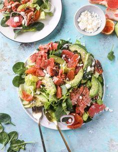 salmon citrus salad with avocado I howsweeteats.com