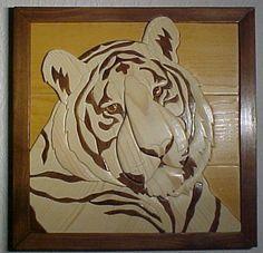 Costumbre pedir tu propio tigre de madera por intarsiabydebbie