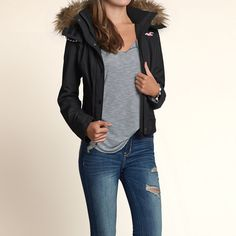 The Hollister All-Weather Bomber Jacket #Fall