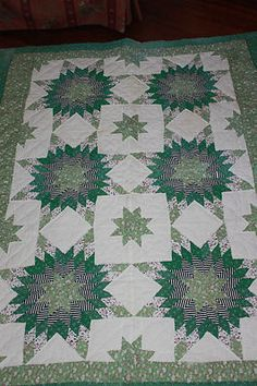 Antique baby quilt -- hand pieced, hand quilted.  Amish?