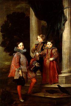 Antoine van Dyck Les Enfants Baldi 1627