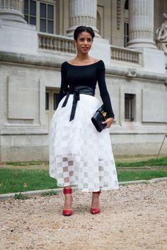 Street Style, Paris: Ciara, Man Repeller and Miroslava Duma rock monochromatic goodies outside fashion week