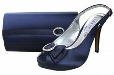Navy #EveningShoes | Navy #WeddingShoes