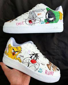 Neon Nike Shoes, Cute Nike Shoes, Cute Nikes, Sneakers Nike, Custom Painted Shoes, Custom Made Shoes, Air Force One Shoes, Air Force Sneakers, Nike Air Force