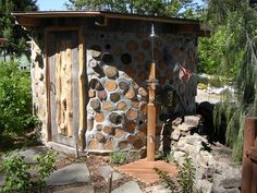 I with friends built this monolithic earth roof cordwood sauna. Every piece has a story. Good memories and hard to leave behind in Bozeman...