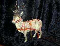 Vintage-Christmas-West-Germany-Reindeer-lead-antlers-glass-eyes-10-1-2-034