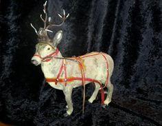 Vintage-Christmas-West-Germany-Reindeer-lead-antlers-glass-eyes-10-1-2-034
