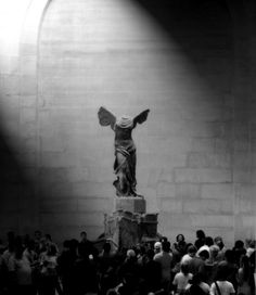 Nike of Samothrace, Louvre, Paris The Winged Victory of Samothrace, also called the Nike of Samothrace, is a second century BC marble sculpture of the Greek goddess Nike (Victory). Winged Victory Of Samothrace, Louvre Paris, Greek Art, Ancient Greece, Aesthetic Art, Art And Architecture, Art History, Victorious, Art Photography