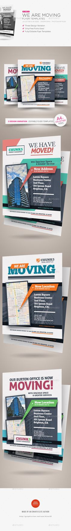 We Are Moving Flyer Templates - Corporate Flyers