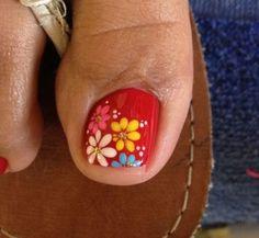 Uñas-decoradas-con-flores-9.jpg (499×459)