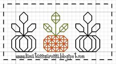 free counted cross stitch chart, cute simple blackwork pumpkins for halloween, thanksgiving, fall, autumn Blackwork Patterns, Embroidery Patterns, Cross Stitch Embroidery, Cross Stitch Patterns, Block Patterns, Halloween 3, Harvest Crafts, Cross Stitch Freebies, Halloween Cross Stitches