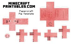 Free Printable Minecraft Pig Papercraft Template. Print, cut out and fold to create your own Printable Minecraft Pig. Perfect Papercraft for kids and Minecraft Birthday Parties.