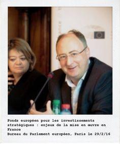 José-Manuel Fernandes co-rapporteur sur le FEIS, et Isabelle Thomas, membre de la commission des budgets, lors de la table ronde organisée au Bureau d'Information du Parlement européen. Manifeste