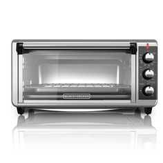 BLACK DECKER Extra Wide Convection Countertop Toaster Oven, Includes Bake Pan, Broil Rack and Toasting Rack, Stainless Steel/Black Convection Toaster Oven ** Discover this special product, click the image : Pizza Pans and Stones