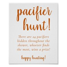 pacifier hunt idea for baby shower Fotos Baby Shower, Baby Shower Signs, Baby Shower Favors, Baby Shower Game Gifts, Fun Baby Shower Games, Baby Shower Activities, Baby Shower Fall Theme, Baby Boy Shower Games, Baby Girl Shower Decorations