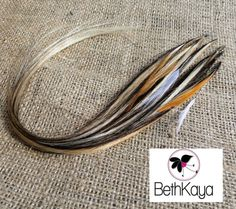Blonde and Chocolate Feather Rodeo ITip Tresses By by BethKaya, $18.00